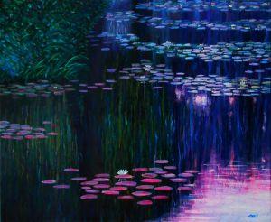 Le bassin aux Nymphéas : Huile sur toile : 46 x 38 cm (2016) - 85 €
